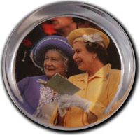 The Queen and Queen Mother Paperweight