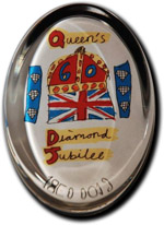 Diamond Jubilee Oval Paperweight